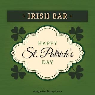 Irish bar badge