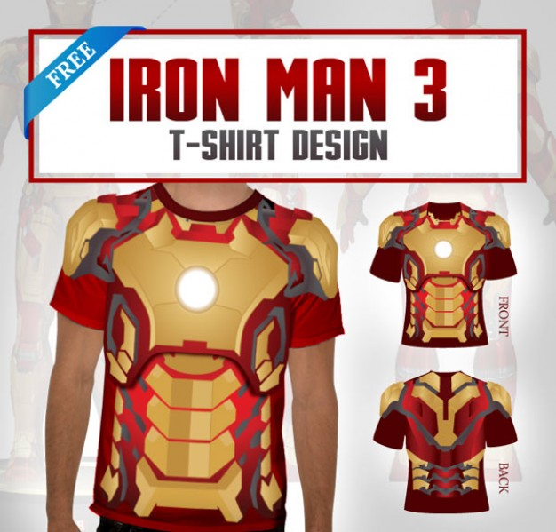 Iron Man T-shirt design
