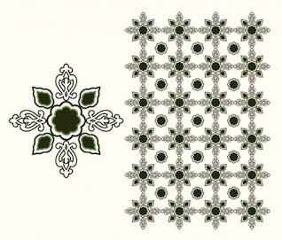 Islamic design element isolated white