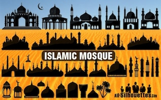islamic mosque   all silhouettes
