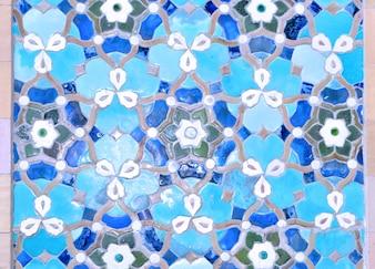 Islamic mosque ornamental tiles