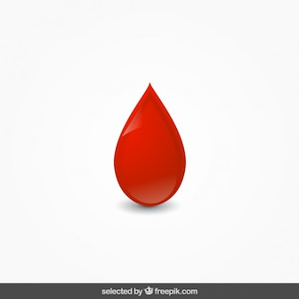 Isolated blood drop