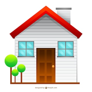 Isolated house drawing