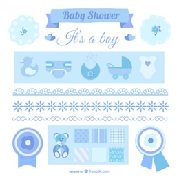 It's a boy announcement elements