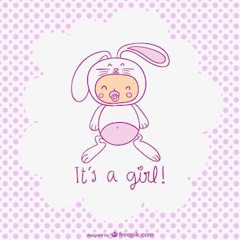 It's a girl, cute baby girl
