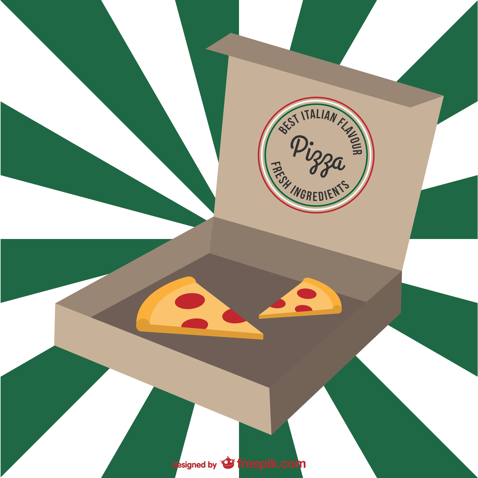 Italian pizza cartoon vector
