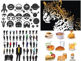 jaguar aliens silhouettes food