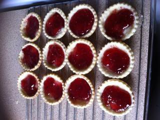 Jam tarts  cooking