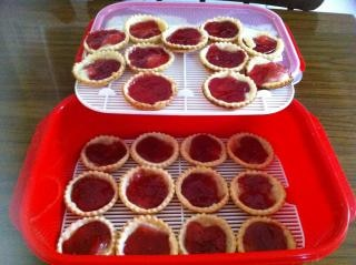jam tarts in container