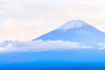 Japan blue fuji travel winter