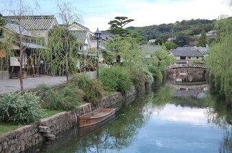 Japan zone okayama kurashiki river beauty