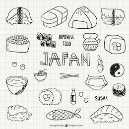 Japanese food and sushi
