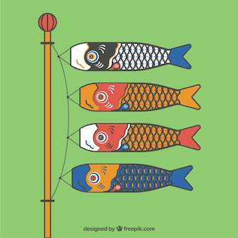 Japanese koi carp windsocks