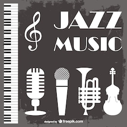 Jazz music vector background