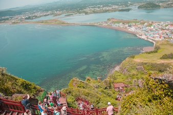 Jeju Island, KOREA - OCTOBER 12: SONGSAN ILCHULBONG in Jeju do ,