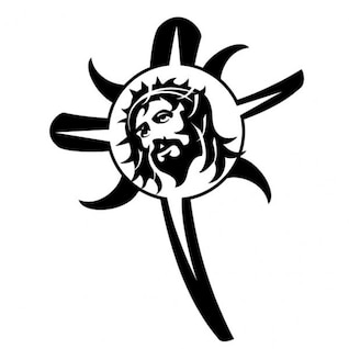 Jesus Christ image in a cross