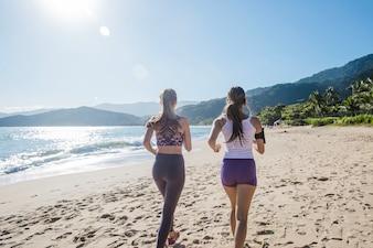 Jogging during summer holidays