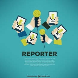 Journalist press concept