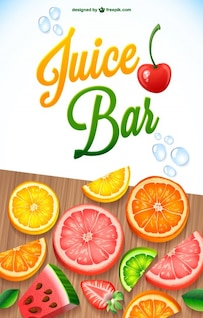 Juice fruit mix vector