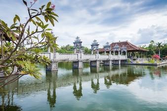 Karangasem water temple palace in Bali