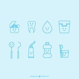 Kawaii dentist icons