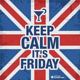 Keep calm friday design