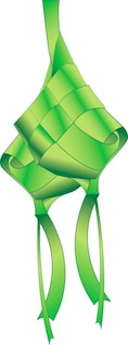 Ketupat Dumpling Vector Graphic