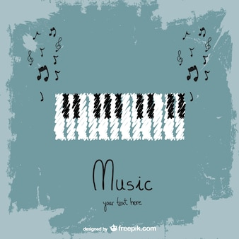 Keyboard instrument vector background