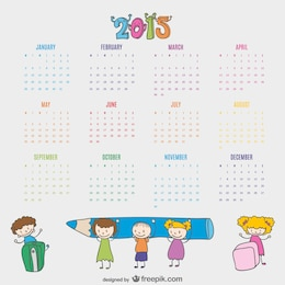 Kids drawn calendar 2015