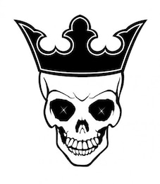 King skull with crown