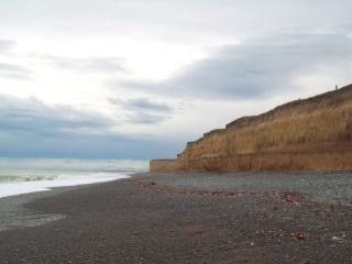 Kingsdown sea escarpment - Canterbury NZ