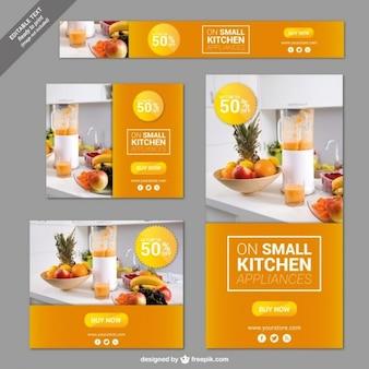 Kitchen appliances banners