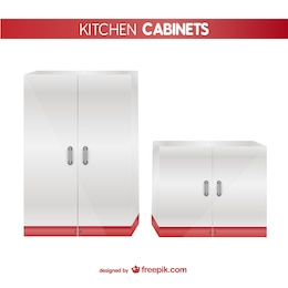 Kitchen cabinets vector