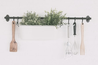 Kitchen object set on wall
