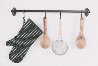 Kitchen object set on wall