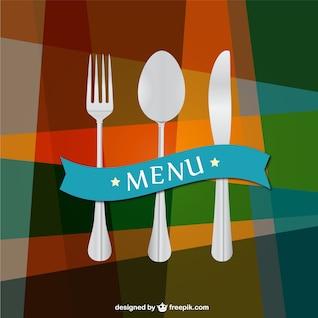 Kitchen utensils vector background template