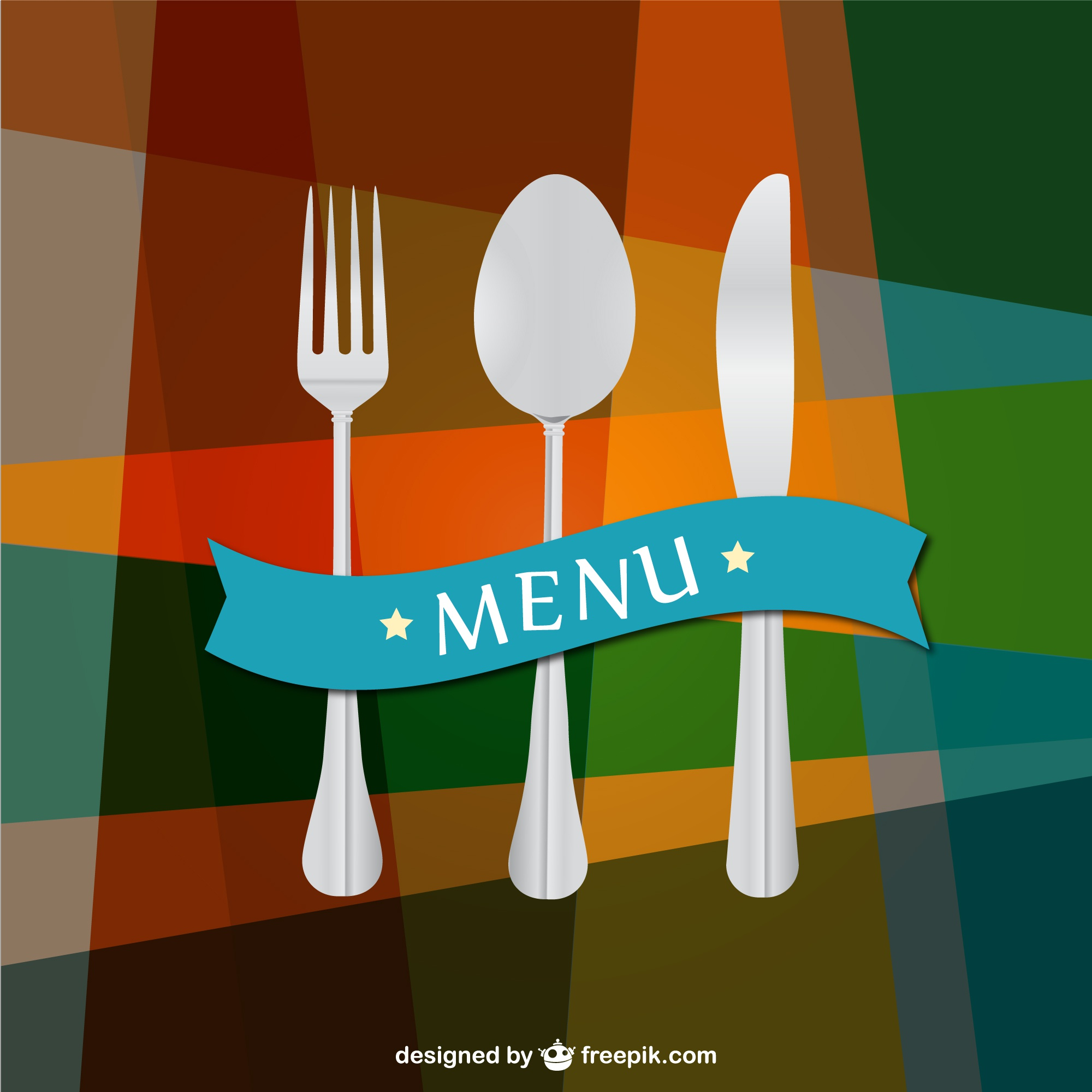 Kitchen utensils vector background template