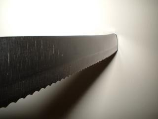 Knife into wall