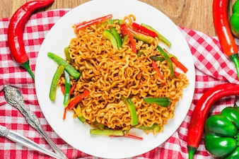 Korean instant noodles Spicy instant noodles