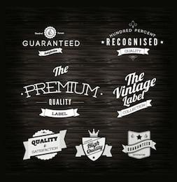 Labels - Quality vintage label vector set
