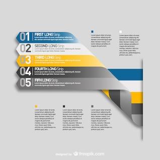 Labels menu template infograpy