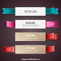 Labels with ribbons