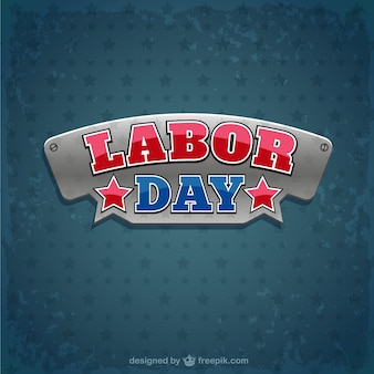 Labor day badge