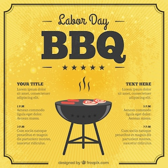 Labor day bbq card