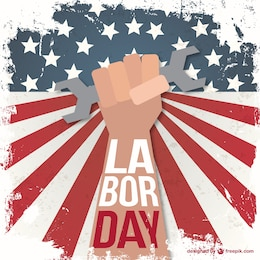 Labor day grunge illustration