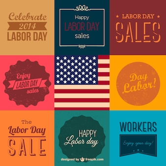 Labor day vector collection