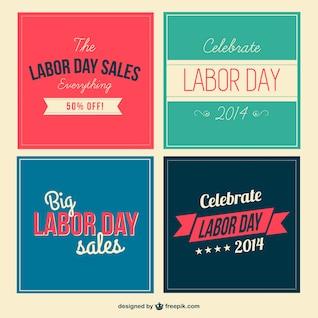 Labor day vector set