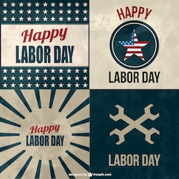 Labor's day free vector cards