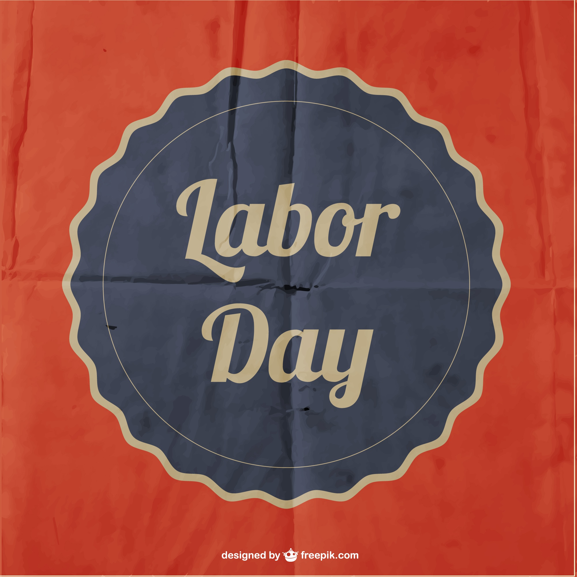 Labor's day vector paper poster