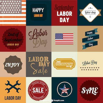 Labor's day vector vintage cards